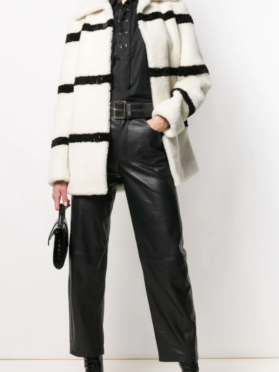 Shearling-Mantel Saint Laurent